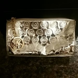 Michael Kors Gold Cosmetic Bag